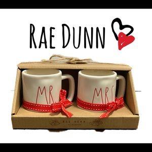 RAE DUNN ceramic mug ornaments set of 2 'M…